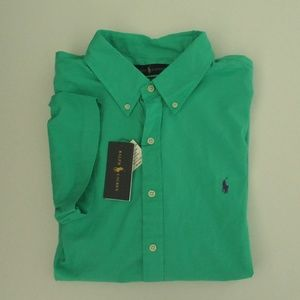 Ralph Lauren SS Green Featherweight Twill Shirt